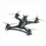 HGLRC Wind5 Lite 5 Inch 208mm Zeus F722 MINI Flight Controller 45A BLHeli_32 3-6S 4 In 1 ESC 2207.5 Blue Motor RC FPV Racing Drone w/Predator 5 Version Camera