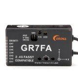 CORONA GR7FA 7CH S.BUS Receiver With Gyro Compatible Futaba FASST Transmitter