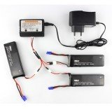 3 x 7.4V 2700mAh 10C Battery & Charger Set for Hubsan H501S H501C X4 RC Drone