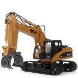 HuiNa 570 2.4G 1/12 Remote Control Excavator 16 Channels Metal Plastic Remote Control Car Model Toys