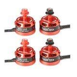 4x Racerstar Racing Edition 2205 BR2205 2600KV 2-4S Brushless Motor CW/CCW For QAV250 ZMR250 260 280