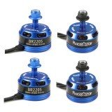 4X Racerstar Racing Edition 2205 BR2205 2300KV 2-4S Brushless Motor Dark Blue For 210 X220 250 280