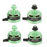 4X Racerstar Racing Edition 2205 BR2205 2600KV 2-4S Brushless Motor Green For 210 X220 250 280