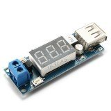 2S-3S Lipo Battery USB Power Converter Adapter with Digital Display
