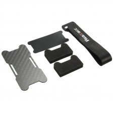 Realacc Carbon Fiber Battery Protection Board with Tie Down Strap for X Frame kit