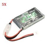 5X Charsoon 2S 7.4V 450mAh 25C Lipo Battery with Battery Strap for Eachine Fatbee FB90 EX120