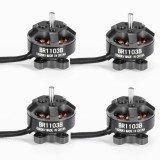 4X Racerstar Racing Edition 1103 BR1103B 10000KV 1-3S Brushless Motor Black For 50 80 100 Mini Frame