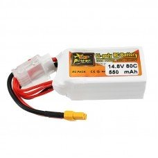 ZOP Power 14.8V 550mAh 80C 4S Lipo Battery XT30 Plug