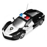 1/24 2 Channel Wireless Remote Control Remote Control Police Car Truck Kids Toy Gift