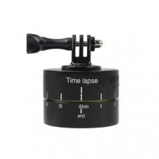 Time Lapse 360 Degree Rotation Gimbal wirh Adapter for FPV Camera Gopro DSLR Smartphone