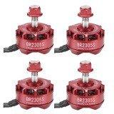 4X Racerstar 2305 BR2305S Fire Edition 2400KV 2-5S Brushless Motor For 210 220 250 300 Racing Frame