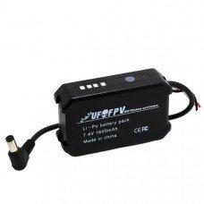 UFOFPV 7.4V 1600mAh Li-po Battery Pack with LED Indicator for Fatshark HD2/V3 FPV Video Goggles