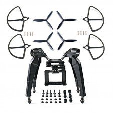 Upgraded Spring Landing Gear Skid Camera Mount Bracket Blade Props Guard for Hubsan H501S X4 Drone