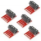 5 PCS DC 3.5mm Audio Connector MP3 Stereo Socket Microphone Module for FPV Goggles Monitor