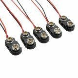 5Pcs 175mm 9V T Type I Type Battery Buckle Connector Snap Clip Lead Cable