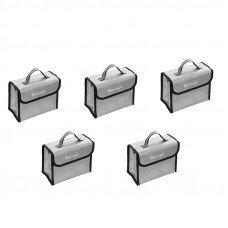 5Pcs Realacc Fire Retardant LiPo Battery Pack Portable Safety Bag 215*155*115mm