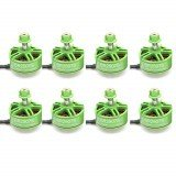 8 PCS Wholesale Racerstar 2507 BR2507S Green Edition 2400KV Brushless Motor 3-5S For RC Drone