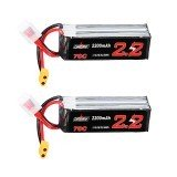 2Pcs URUAV 14.8V 2200mAh 70C 4S Lipo Battery XT60 Plug for Eachine Fury Wing Airplane Feilun FT011