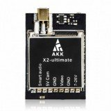 AKK X2-ultimate US 25mW/200mW/600mW/1000mW 5.8GHz 37CH AV FPV Transmitter VTX with Smart Audio Mic