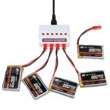 XF POWER 3.7V 680mAh 30C 1S Lipo Battery JST Plug with Battery Charger