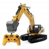 HUINA 580 Excavator Remote Control Car Toys Styling 23 Channel Road Construction All Metal Truck Autos