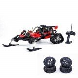 Rovan Baja305AS 1/5 2.4G RWD Snow Buggy Rc Car 30.5cc Engine With Tracked + Round Wheels RTR Toy
