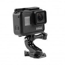 360 Degree Rotation Protective Case J-Type Base For GoPro 7 6 5 4 XiaoYi SJCAM MiJia FPV Action Camera