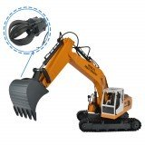 Double E E561-003 Remote Control Excavator Alloy 3 In 1 Engineer Robot Car With Metal Bucket And Dig Hand