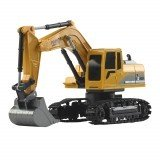 Mofun 1026 40Mhz 1/24 6CH Remote Control Excavator Car Vehicle Models Toy Engineer Truck With Alloy Parts Light Music
