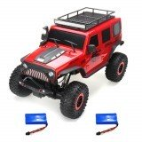 Wltoys 104311 1/10 2.4G 4X4 Crawler Remote Control Car Desert Mountain Rock Vehicle Models With Two Motors LED Head Light Two Battery