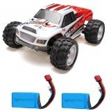 WLtoys A979B with Two Batteries 1/18 2.4G 4WD Monster Truck Remote Control Car 70km/h RTR Model