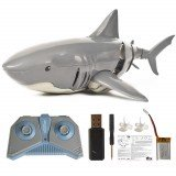 T11B 2.4G 4CH Electric RC Boat Simulation Shark Animal RTR Model Toys Grey Color