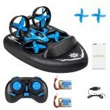 JJRC H36F Terzetto with Two Batteries 1/20 2.4G 3 In 1 RC Boat Vehicle Flying Drone Land Driving RTR Model