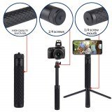 LEDISTAR Extension Rod Selfie Stick 15.7cm-57.2cm for GoPro Tripod Gimbals Smartphone Action Cameras