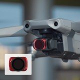 Aluminum Alloy Camera Lens Red Adjustable CPL UV ND8 Filter Combo Set for DJI Mavic Air 2 RC Drone