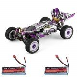 Wltoys 124019 RTR Two/Three Upgraded 2600mAh Battery 2.4G 4WD 60km/h Metal Chassis Remote Control Car Vehicles Models Toys