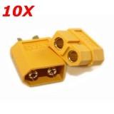 10X XT60 Male Female Bullet Connectors Plugs For RC Battery