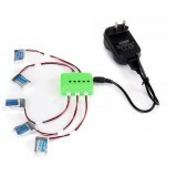 5Pcs 3.7V 150mAh Li-po Battery and Charging Cable Set for JJRC H20 RC Drone