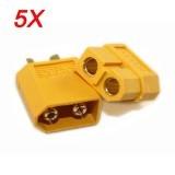 5X XT60 Male Female Bullet Connectors Plugs For RC Battery