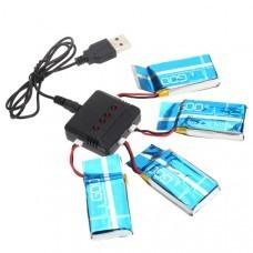Syma X5-15 X5C X5SW-1 H5C 1 To 4 3.7V 600MAH Upgrade Battery