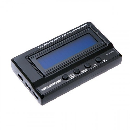 how to use hobbywing multifunction lcd program box