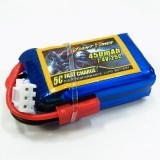 Giant Power LIPO 7.4V 2S 450MAH 25C Low Resistance Battery Good Consistency Ultra Light