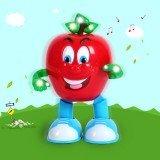 Electric Dancing Lighting Apple Pear Fun Toy Gift