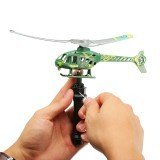 Rip cord Launch Pull launcher Action Helicopter Toy
