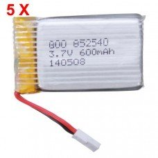 Syma X5 X5C H5C X5SC 3.7V 600mAh Upgrade Battery 5 PCS