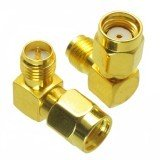 RP-SMA Male to RP-SMA Female Adapter Right Angle RF Connector