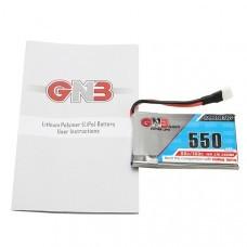 Gaoneng GNB 3.7V 550mAh 1S 80/160C Lipo Battery White Plug