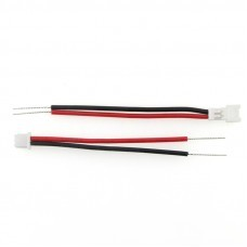 2PCS DIY Micro 1.25 Male & Female Connector Plug Cable For Blade Inductrix Tiny Whoop LIPO Battery