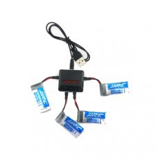 4X JJRC H43WH 3.7V 500MAH 20C Battery Charger Set RC Drone Spare Parts