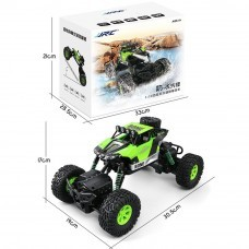 JJRC 1/16 2.4G 4WD Racing Rc Car Waterproof With Led Light Off-Road Rock Crawler Truck RTR Toys